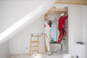 Foto van bouwvakkers
